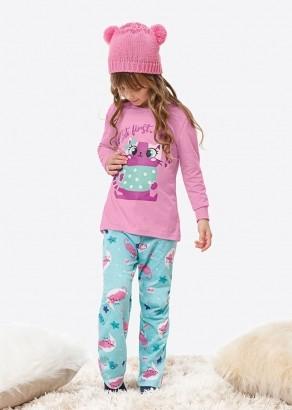 Pijama Infantil Inverno Feminino Rosa Gatinha - Malwee