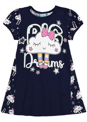 Pijama Infantil Feminino Verão Marinho Big Dreams - Kyly