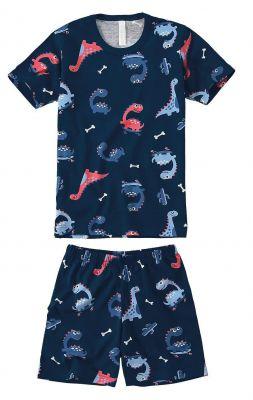 Pijama Infantil Masculino Marinho Dino Malwee