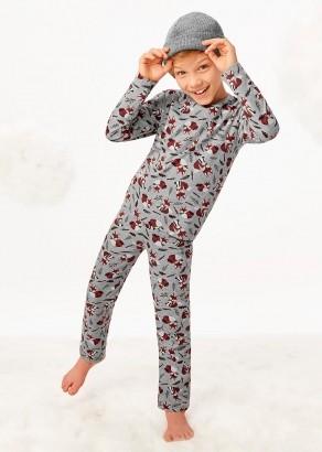 Pijama Infantil de Inverno Masculino Cinza Raposa Malwee