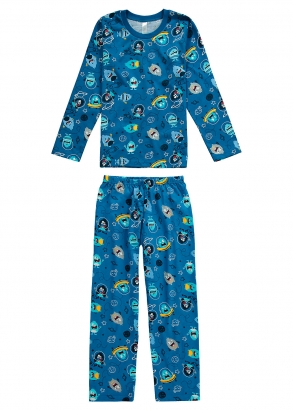 Pijama Infantil Masculino Estampado Malwee