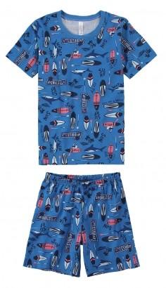 Pijama Infantil Masculino Estampa Surf Azul - Malwee