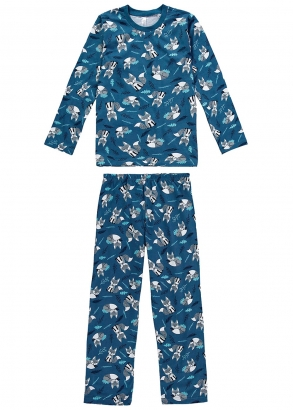 Pijama Infantil Masculino Inverno Azul Fox - Malwee