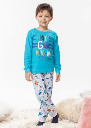 Pijama Infantil Masculino Inverno Azul Let's Malwee