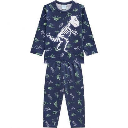 Pijama Infantil Masculino  Inverno Azul Rex Kyly