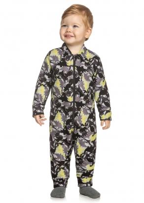 Pijama Infantil Masculino Inverno Cinza Dino - Elian