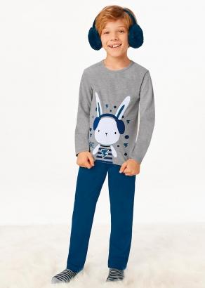 Pijama Infantil Masculino Inverno Cinza Have Fun - Malwee