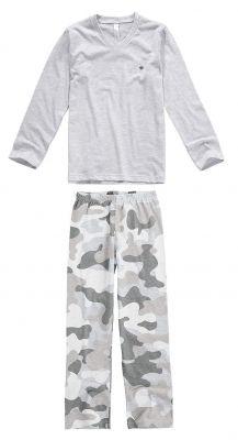 Pijama Infantil Masculino Inverno Cinza Mescla Claro Camuflado Malwee