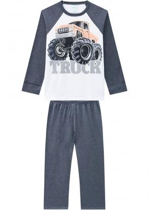 Pijama Infantil Masculino Inverno Mescla Truck Kyly
