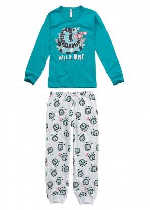 Pijama Infantil Masculino  Inverno Verde Fun Malwee