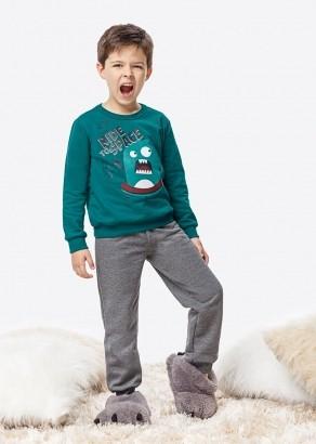 Pijama Infantil Masculino Inverno Verde Monstrinho Malwee