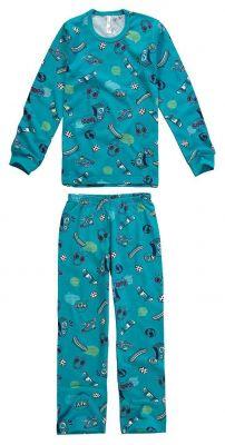 Pijama Infantil Masculino Inverno Verde Urbano Malwee