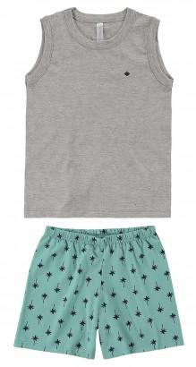 Pijama Infantil Masculino Verão Cinza PAI E FILHO Malwee
