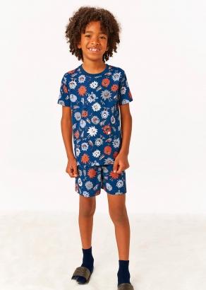 Pijama Infantil Masculino Verão Azul Cute Monster - Malwee