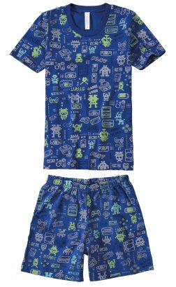 Pijama Infantil Masculino Verão Marinho Game Malwee
