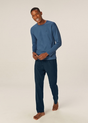 Pijama Masculino Adulto Azul Inverno Malwee