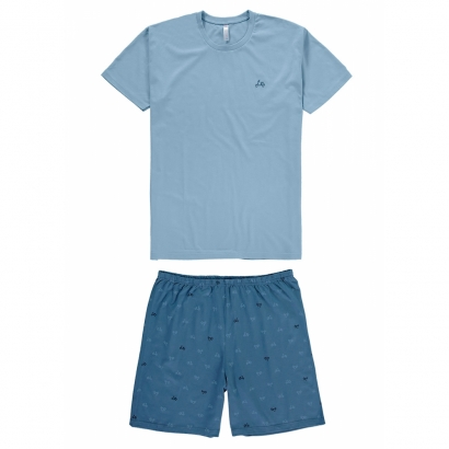 Pijama Masculino Adulto Pai e Filho Azul Malwee