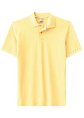 Polo ADULTO Masculina Verão Amarela Malwee