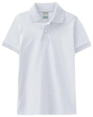 Polo Infantil Masculina Verão Branca Malwee