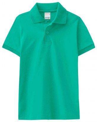 Polo Infantil Masculina Verão Verde Malwee