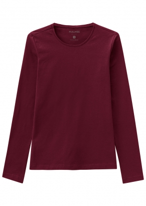 Blusa Adulto Feminina Vermelha Inverno Malwee