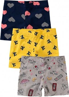 Short Infantil Feminino Verão Amarelo Kit 3 Malwee