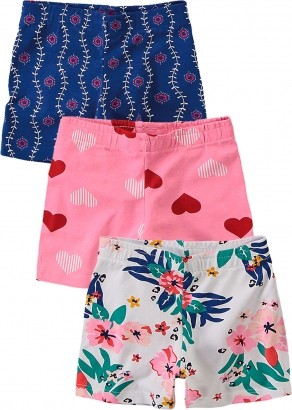 Short Infantil Feminino Verão Cinza Kit 3 Malwee