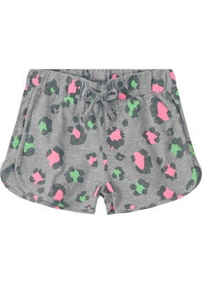 Shorts Infantil Feminino Cinza Onça - Malwee