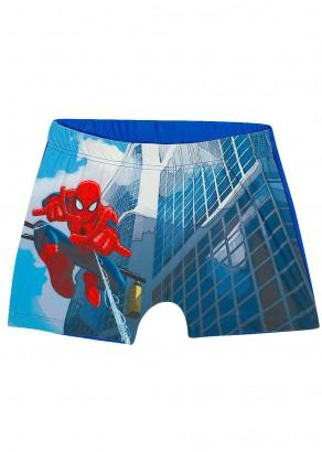 Sunga Boxer Infantil Verão Azul Spiderman Tip Top