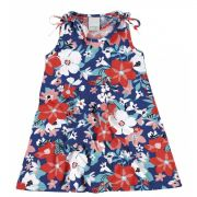 Vestido Infantil Azul Flores Malwee