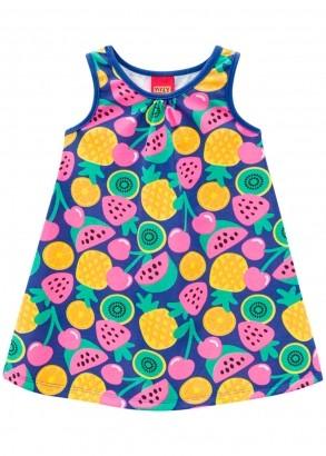 Vestido Infantil Azul Mônaco - Kyly