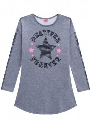 Vestido Infantil Cinza Inverno Amora