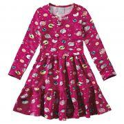 Vestido Infantil Feminino Inverno Rosa Espacial Malwee