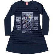 Vestido Infantil Inverno Marinho Cool Girl Elian