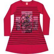 Vestido Infantil Inverno Rosa Cool Girl Elian