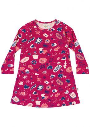 Vestido Infantil Inverno Rosa Hits Elian