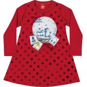 Vestido Infantil Inverno Vermelho Winter Elian