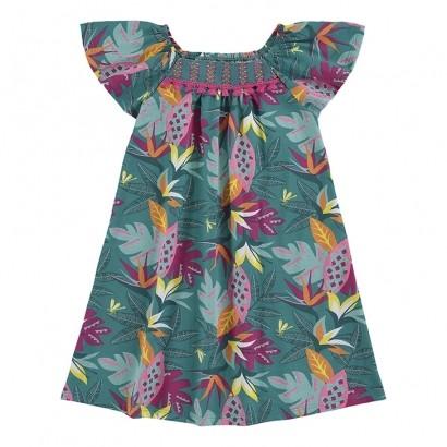 Vestido Infantil Malha Verde Esmeralda - Nanai