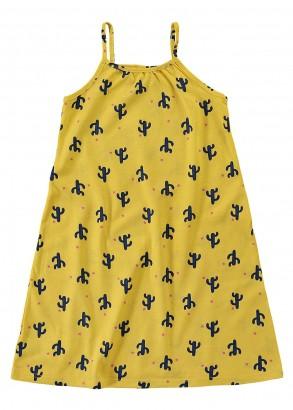 Vestido Infantil Verão Amarelo Cactus Malwee