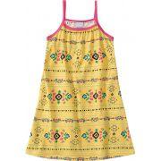 Vestido Infantil Verão Amarelo Flor Malwee
