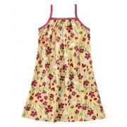 Vestido Infantil Verão Amarelo Floral Malwee