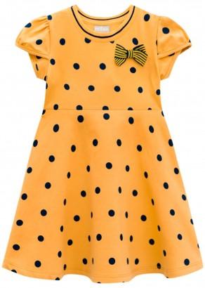 Vestido Infantil Verão Amarelo Poá Milon