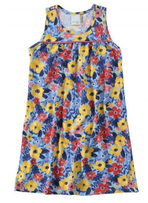 Vestido Infantil Verão Azul Floral Malwee