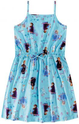 Vestido Infantil Verão Azul Frozen Malwee