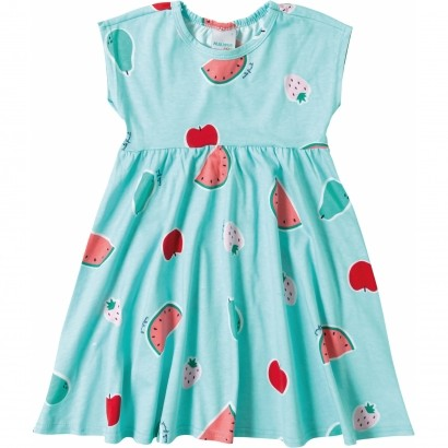 Vestido Infantil Verão Azul Fruit Malwee
