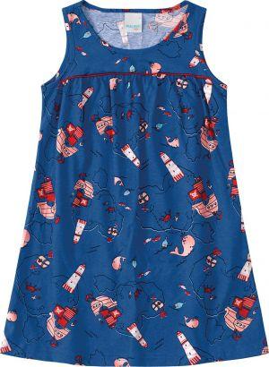 Vestido Infantil Verão Azul Oceano Malwee