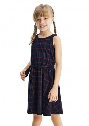 Vestido Infantil Verão Azul Xadrez Malwee