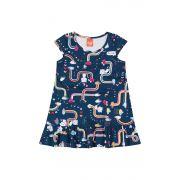 Vestido Infantil Verão Marinho Cute Elian