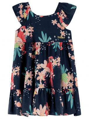 Vestido Infantil Verão Marinho Tropical Colorittá