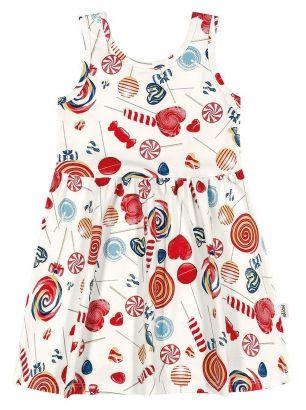 Vestido Infantil Verão OffWhite Lollipop Elian